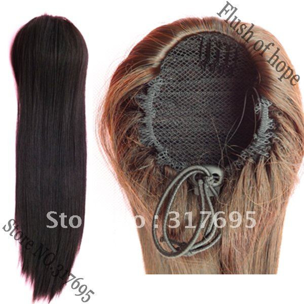 Free-Shipping-Insert-Combs-Drawstring-Ponytail-Synthetic-Hair-Extension-Haripiec