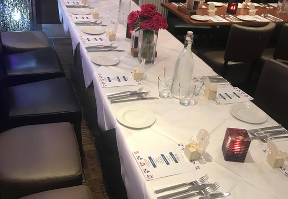 Wedding in Restaurant Setup