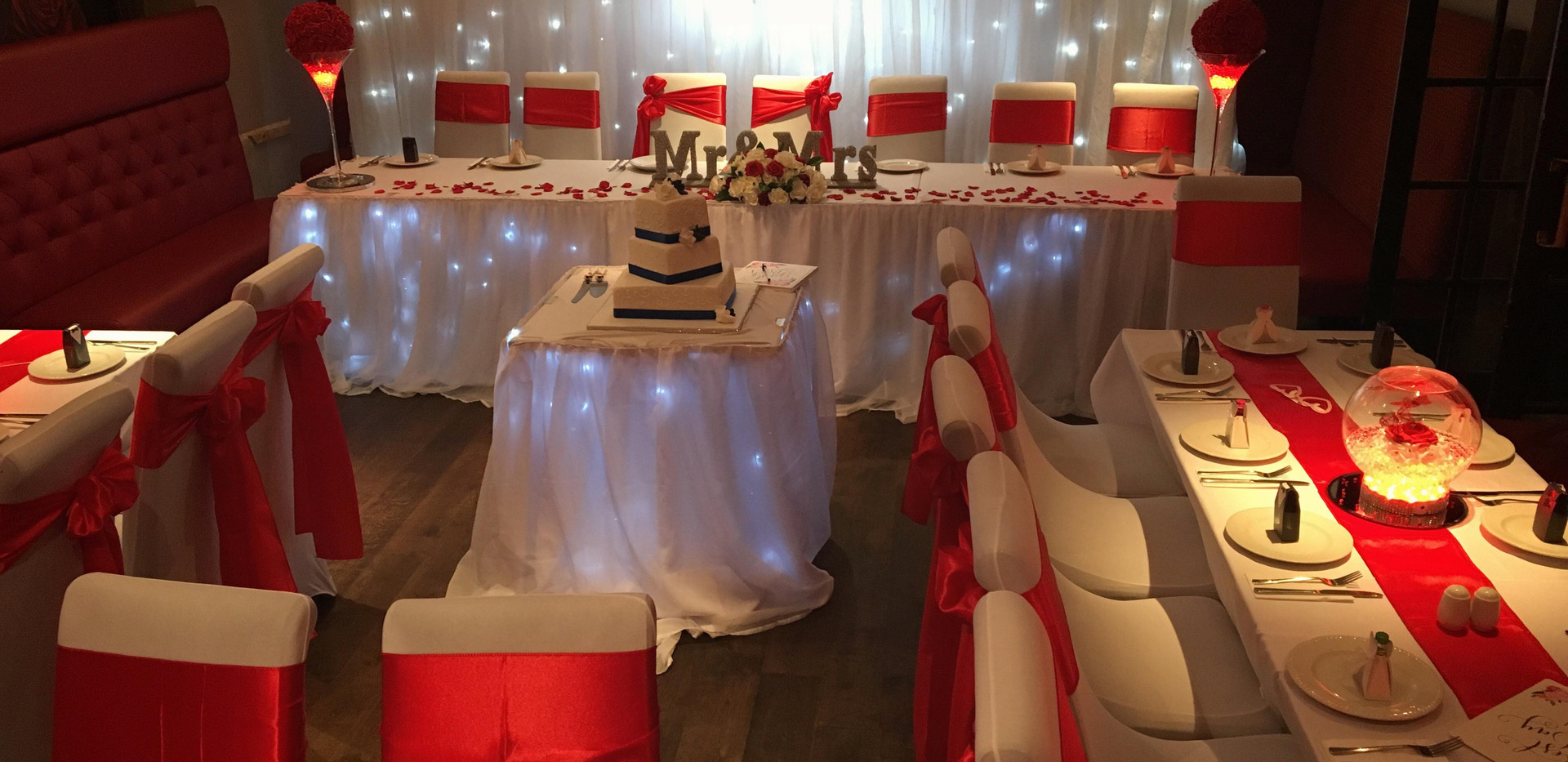 Wedding Set Up In Our Function Room