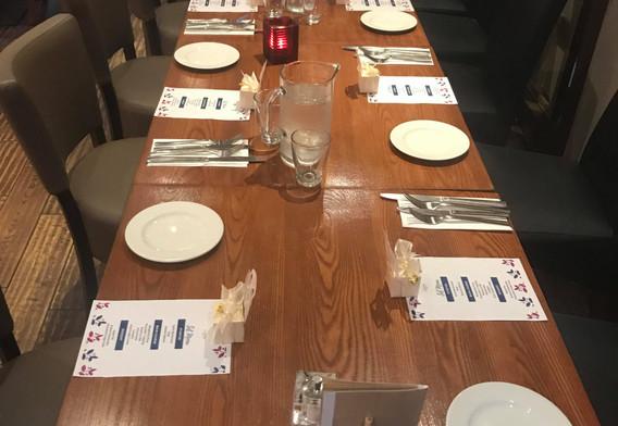 Set Menu Tables