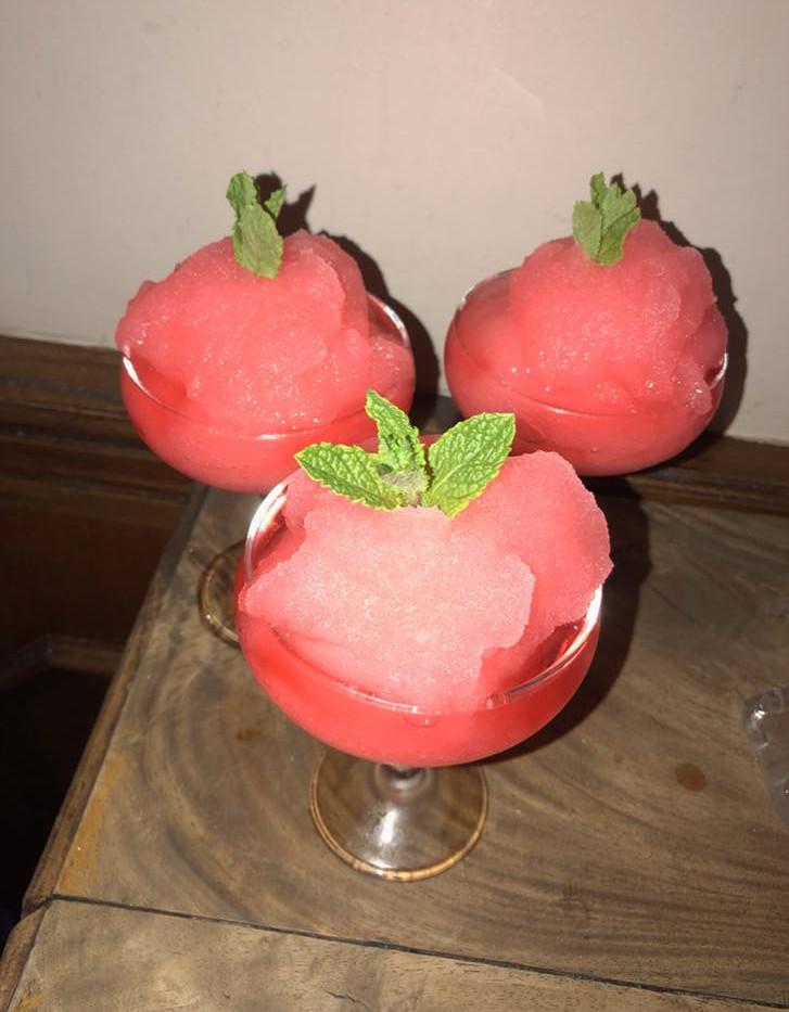 Rhubarb & Ginger Gin Slush