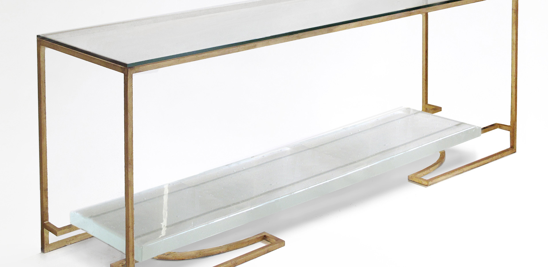 CD CONSOLE - CAST GLASS
