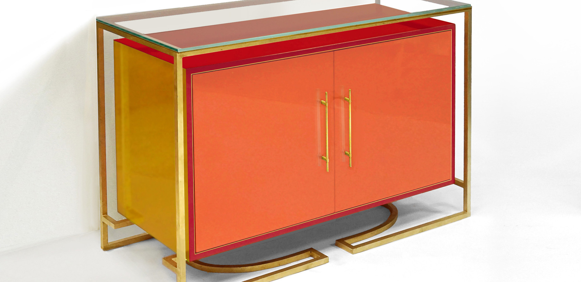 HIGH GLOSS ENAMEL CREDENZA - CUSTOM COLORS