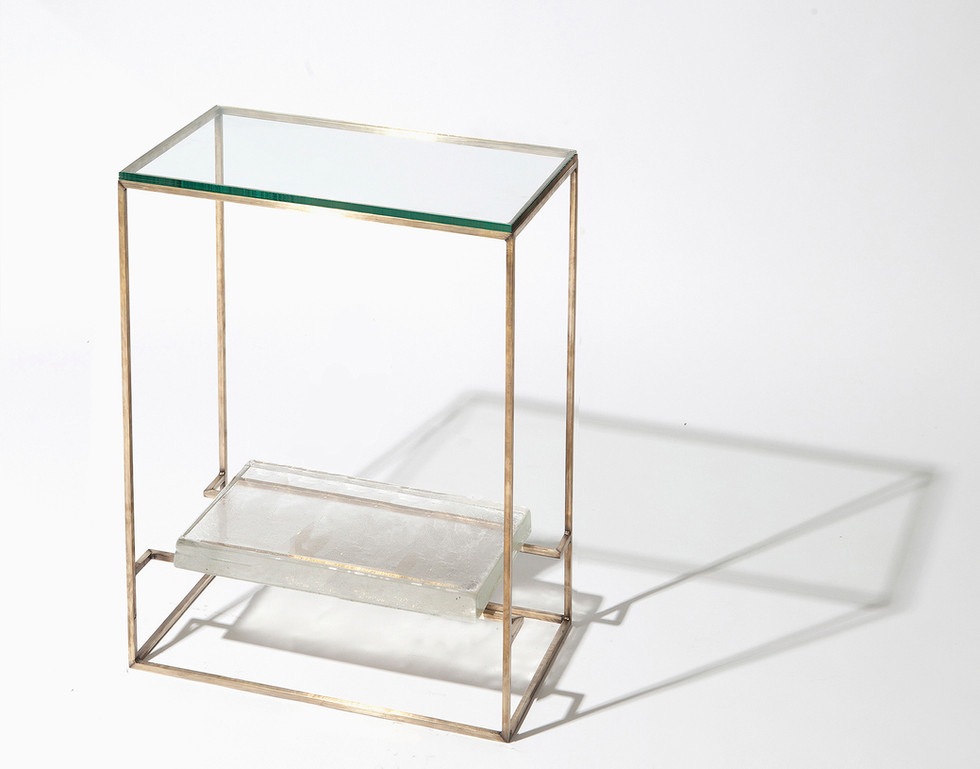 FLOATING GLASS SIDE TABLE - SINGLE