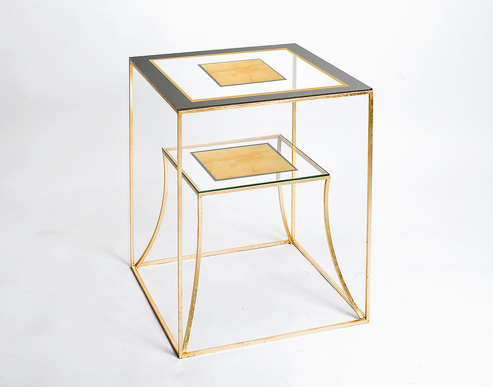 EGLOMISE SIDE TABLE