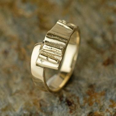 persoonlijke enkele gouden ring