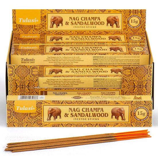 Bastoncini d'Incenso Tulasi - Nag Champa & Sandalo