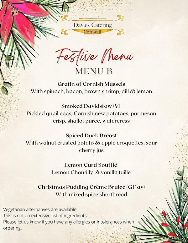 Private Chef Christmas Dinner Taster Menu