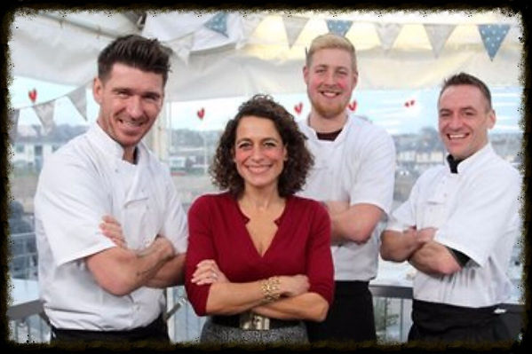 Chef Martin Davies with Alex Polizzi on Chefs on Trial