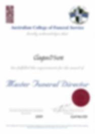 Copper Coast Funerals - Qualifications