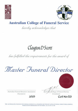 Copper Coast Funerals - Qualifications