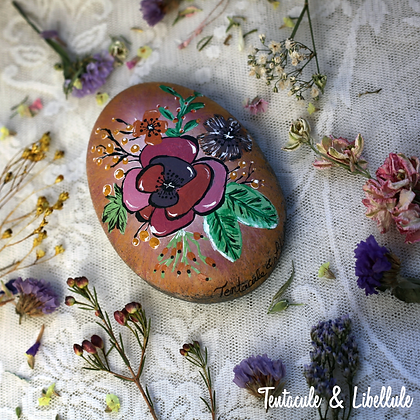 Stone Painted Ornament