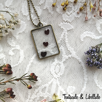 Dried Seeds Resin Necklace