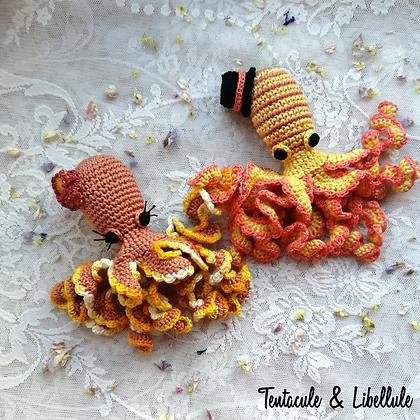 Tiny Couple Octopus Crochet