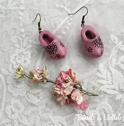 Pink Clogs Earrings