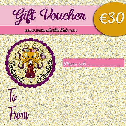 Gift voucher 30 euros