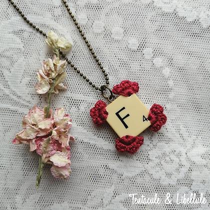 Scrabble Crochet necklace
