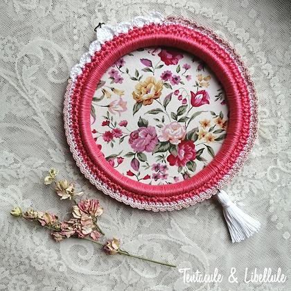 Crochet Frame Flower Fabric