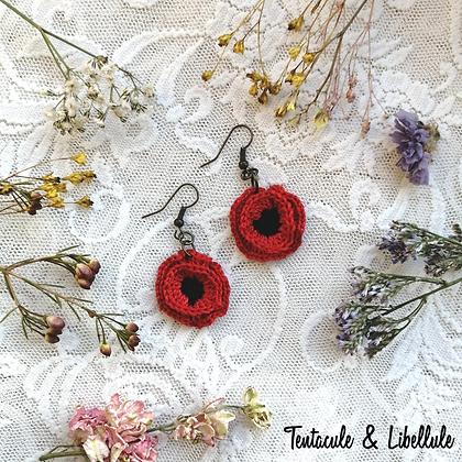 Poppy Crochet Earrings