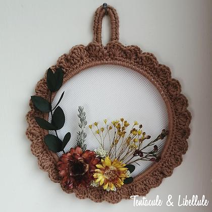 Dried Flower Crochet Frame