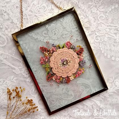 Dried Flower Crochet Metal Frame