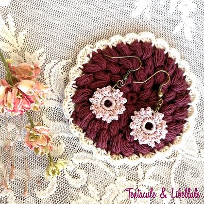 Mini flower Crochet Earrings