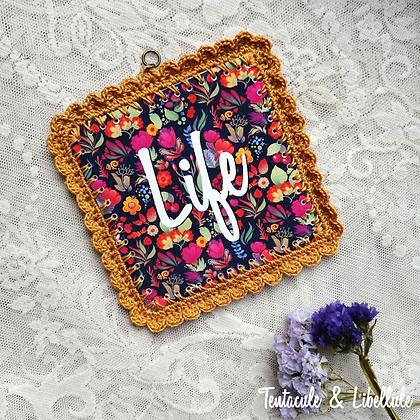 Square Crochet Photo Framed