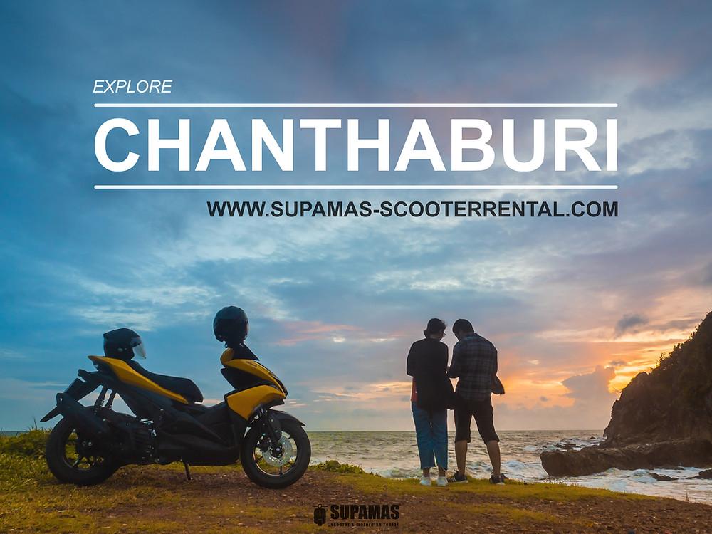 Ridding a scooter around Chanthaburi
