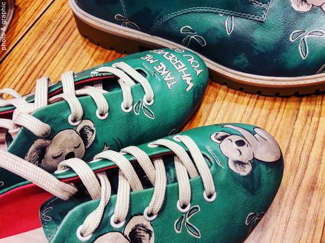 Тренды: экокожа и обувь с принтом