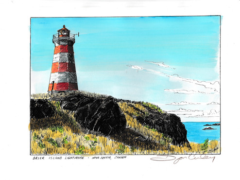 Brier Island Lighthouse, Digby Nova Scotia