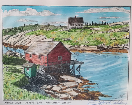 Fishing Shed, Peggy's Cove, Nova Scotia