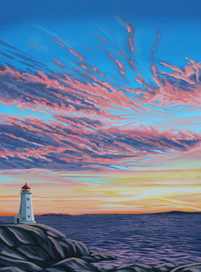 Sunset, Peggy's Cove