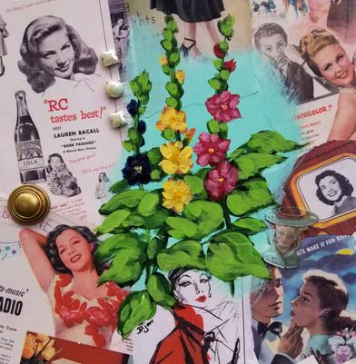 Vintage Hollyhock #1