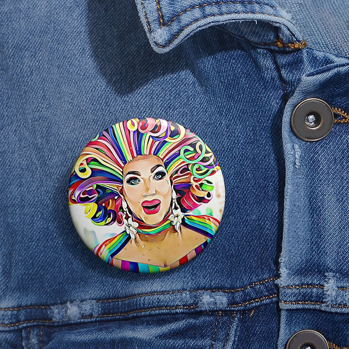 Miss Gloria Hole Pride Pin Buttons