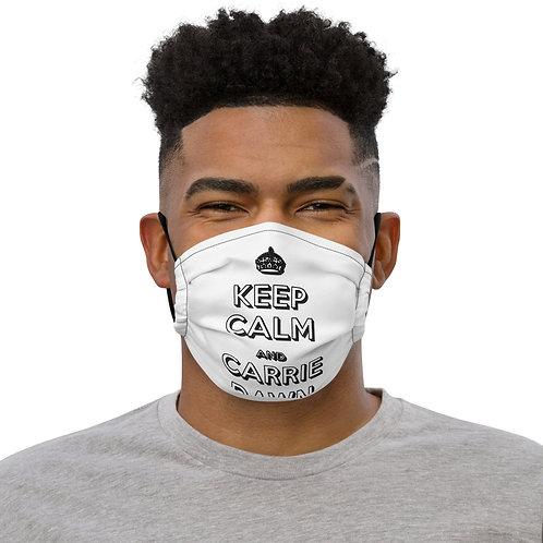 Carrie Dawn Keep Calm Premium face mask