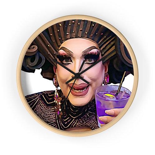 Gloria's Wine O'clock Wall clock