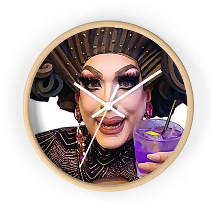 Gloria Hole Wine O'clock Wall Clock