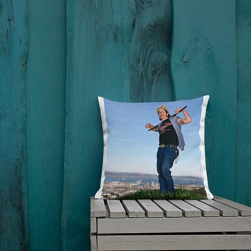 Del LaGrace Volcano - KING OF THE HILL - Premium Pillow