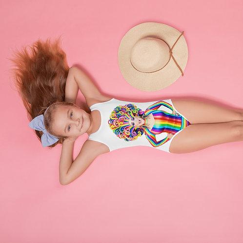 Gloria Hole Rainbow  Kids Swimsuit
