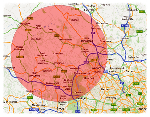 Service coverage -Chilterns