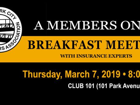 A Members Only Breakfast Meeting