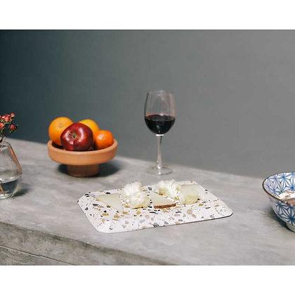 Planche à fromage en Terrazzo blanc