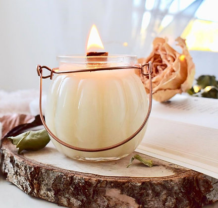 Bougie «Pumpkin» fabriquée en France