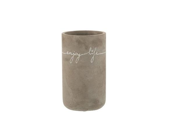 Vase en ciment «Enjoy»