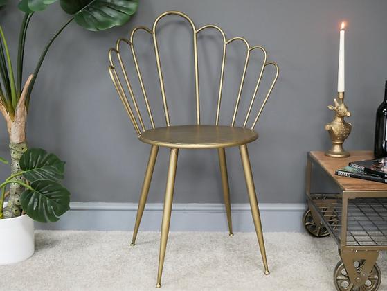 Chaise papillon doré