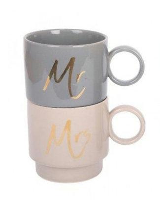 """Set de mugs """"Mr et Mrs"""" (précommande)"""