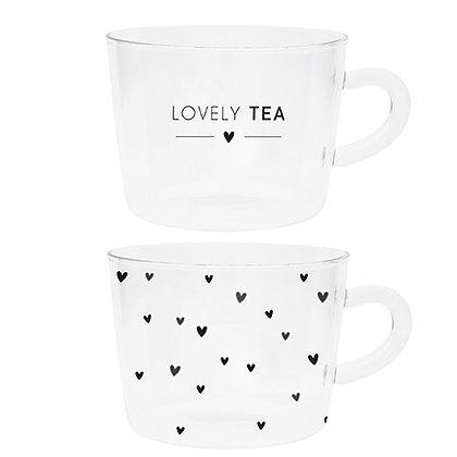 "Verre transparent ""Lovely tea"""