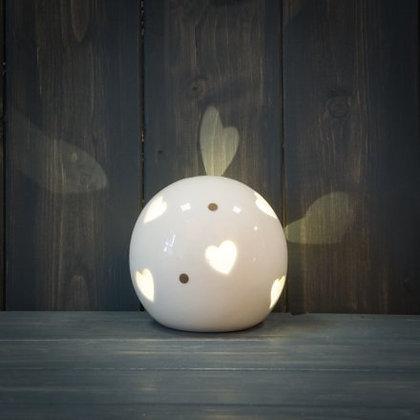 "Boule en céramique lumineuse ""Heart"""