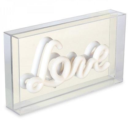 "Boite lumineuse ""Love"""