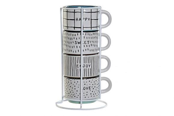 """Set de 4 tasses """"Grid"""""""